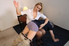 Boss Gigi Allens Spanks Worker