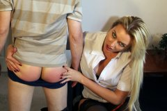 Boss Gigi Allens Spanks Worker Again