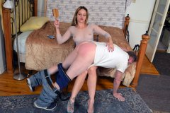 Briella Jaden Spanks Her Uncle