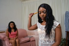 Chanell and Yasmine Spank Their Tutor