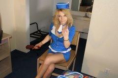 Flight Attendant Spanking