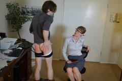 Kade Spanked in Office