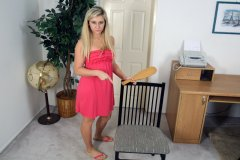 Lilly Banks Spanks Guy at His Office