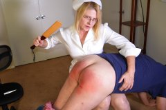Nurse Spanks Daughter's Boyfriend Again