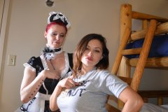 Two Maids Spank Harder Than One
